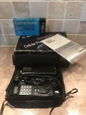 Vintage Motorola Deluxe Cellular Telephone Portfolio Phone  w/ Box Sold As Is