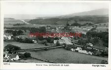 REAL PHOTOGRAPHIC POSTCARD GENERAL VIEW, GATEHOUSE OF FLEET, KIRKCUDBRIGHTSHIRE
