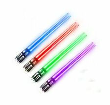 Chop Sabers Light Up LightSaber Chopsticks (4 Pairs, Red, Blue, Green, Purple)