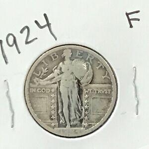 1924 Standing Liberty Silver Quarter  E8859