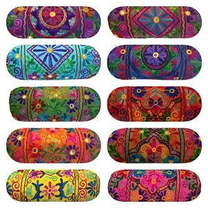 Indian Suzani Ethnic Cushion Covers Embroidery Bolster Cylinder Round Boho 18""
