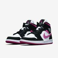 Nike Women's Air Jordan 1 Mid Cactus Flower White Black BQ6472-005 NEW *In Hand*