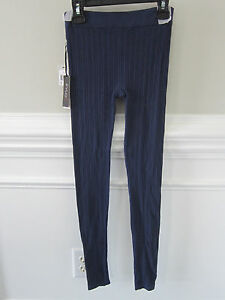 NWT FYLO Leggings Indigo Blue Stretch Textured Leggings Pants Sz S NEW W/ TAGS