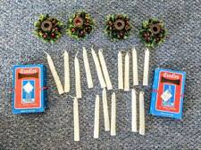 Lot of 16 Vintage Candles For Angel Chimes & 4 Vtg Angel Chime Candle Holders