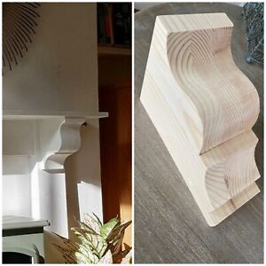 A Pair Of  Large Solid wood Corbels 20 cm high