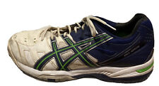 Asics Gel Game 4 Mens Tennis Shoes White And Blue Us 10.5