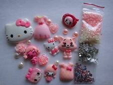 Pink Kids Dress Hello Kitty Deco Den DIY Kit Cabochon 4356