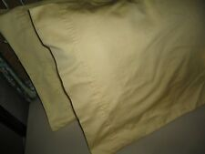 THE COMPANY STORE YELLOW GOLD SATEEN (PAIR) KING PILLOWCASES 20 X 40