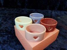 WILLIAMS SONOMA Heart Napkin Rings - Set of 4 - Retired Pattern - Original Box