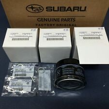 Subaru Engine Oil Filter & Crush Gasket (3 Pack) 2015-17 WRX 2.0 15208AA170 OEM