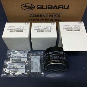 Subaru Engine Oil Filter & Crush Gasket (3 Pack) 2015-19 WRX 2.0 15208AA170 OEM