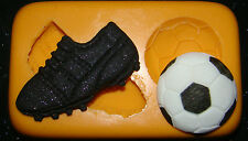 Moule Silicone Gâteau boule de démarrage de football garçons Cupcake Anniversaire fimo polymère de résine