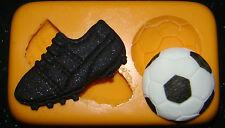 silicone mould football boot ball cake cupcake boys birthday fimo resin polymer