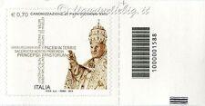 2014 francobollo Canonizzazione Papa Giovanni XXIII DX CODICE A BARRE 1588