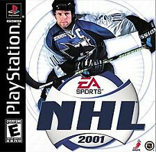 NHL 2001 (Sony PlayStation 1, 2000) COMPLETE GAME BOX AND MANUAL NES HQ
