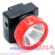 Lot of 2 Wireless LED Light Head Lamp Miner Mining Work Camping Hunting Outdoors