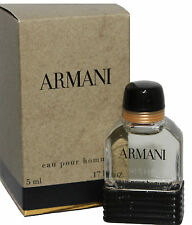 ARMANI POUR HOMME BY GIORGIO ARMANI 0.17 OZ EDT SPLASH MINI FOR MEN NEW IN BOX