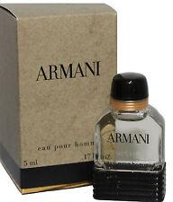 ARMANI POUR HOMME BY GIORGIO ARMANI 0.17 OZ EDT SPLASH MINI FOR MEN NEW IN BOX