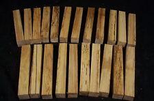 "22 Piece Hickory Pen Blanks 3/4 x 3/4 x 5"" Lathe Turning Craft Wood Lumber"
