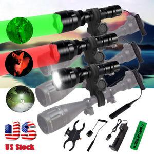 400 yard Hunting Flashlight LED Red Light Coyote Hog Pig Predator Waterproof