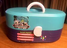 CABOODLES COSMETIC ORGANIZER VINTAGE CARRY TRAVEL CASE MAKEUP / NAIL PURPLE/TEAL