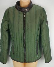 Michael Kors Womens PXS Moto Olive Green Puffer Quilt Down Coat Jacket Petite XS