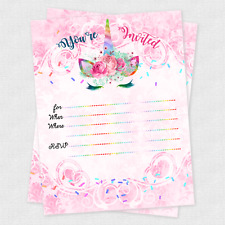 for girls unicorns greeting invitations for sale ebay