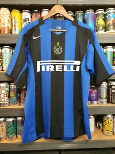 Inter Milan Mens Large 2004 - 2005 Home Football Shirt Classic Vintage Rare