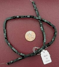 4mm Cube Square Black Onyx Gem Stone Gemstone Beads 15 Inch Strand BSO7