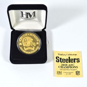 Highland Mint 2010 AFC Champion Gold Plated Coin Steelers # out of 5,000