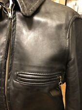 Leather Forever Vintage Motorcycle Jacket Women's S Talon Zippers 1950's 1960's