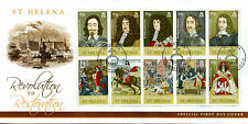 ST HELENA 2010 FDC Revolution pour restauration 10 V couverture Cromwell Royalty timbres