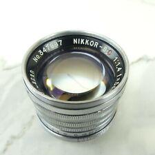 Vintage Nikon NIKKOR S.C. 50mm F/1.4 Leica Screw Mount Lense EXCELLENT CONDITION