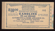 AUTHENTIC & OLD DENVER CO AUTO COUPON BOOKLET GAS OIL GREASE * FREE SHIP *PC4