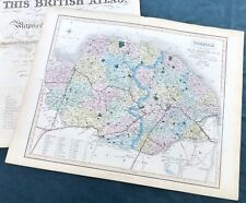 NORFOLK - 1858, J.& C. Walker - Original Antique County Map.