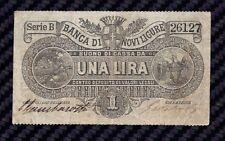BUONO DI CASSA 1 LIRA FIDUCIARIO  DELLA BANCA DI NOVI LIGURE