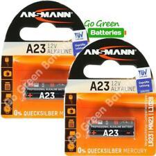 2x Ansmann A23 12V Alkaline Batteries MN21 23A LRV08 E23A 8LR23 High Performance