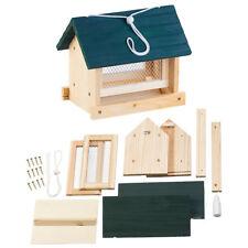 Vogel-Futterhaus-Bausatz, mit Silo, Echtholz, zum Aufhängen, 11-teilig