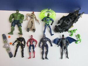 BATMAN SPIDER-MAN VENOM ACTION FIGURE super hero LOT hulk green goblin scarecrow
