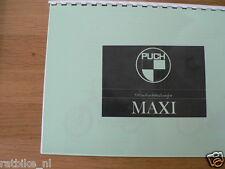 P0018 PUCH---INSTRUCTIE BOEKJE---PUCH MAXI AV + SUPER-MODEL