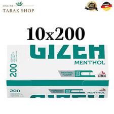 10 x 200(2000) Gizeh Menthol Hülsen Filterhülsen Zigarettenhülsen