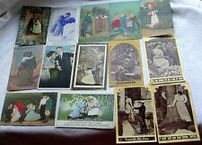 Vintage Antique Postcard PC Lot People Couples Romance Soldier Love Series