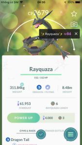 Shiny Rayquaza Pokemon - Acc mini
