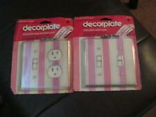 Nip Two Piece Decorplate Clear Plastic Plug And Switch Plate, Switch Plate