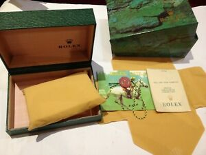 Rolex Watch Replecement wooden box With Tags & Outer Box