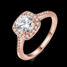 Women's Rings 18K Rose Gold Filled Fashion Jewelry Luxury Gift Size 7
