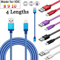 0.2M-3M 2A Quick Charger Data Cable For iPhone 5 6 6s 7 Plus iPad Air iPod Nano