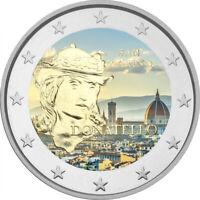 2 Euro Gedenkmünze San Marino 2016 coloriert / mit Farbe Farbmünze Donatello