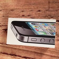AS IS APPLE 32GB iPHONE 4S BOX ONLY WITH INSERTS NO PHONE HEADPHONES or CHARGER