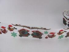 Christmas Birds 7/8 inch Grosgrain Ribbon